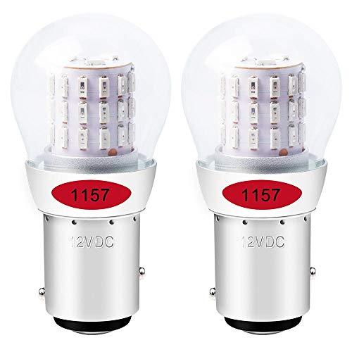 ALOPEE - 2-Stück Rot 1157 Glühbirne 2057 2357 Lichtlampe - Super Hell 12-15V DC - Für Bremslicht Rücklicht