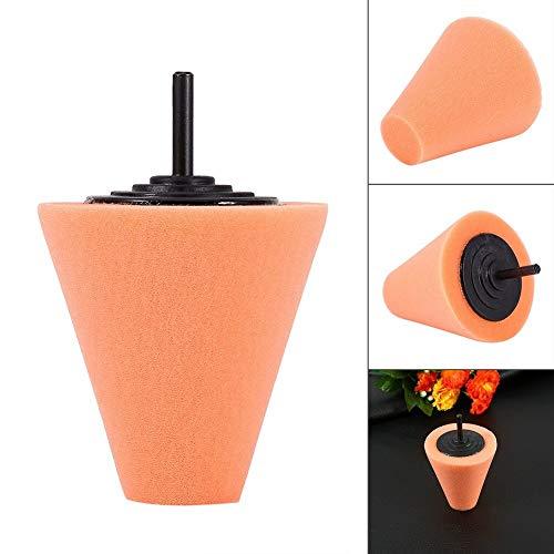 Rockyin 1PCS espuma de pulido en forma de cono pulidoras de ratón for ruedas - Uso con el taladro de potencia