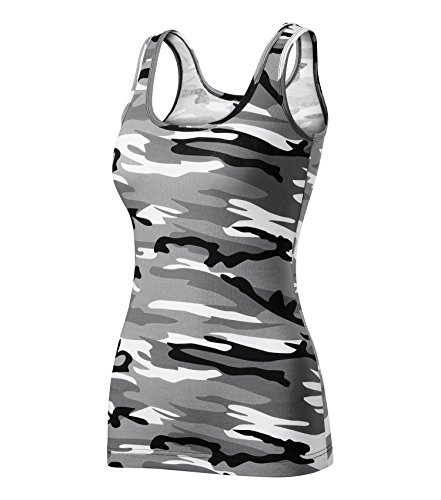 Adler T-Shirt Damentop Triumph Top Größe und Farbe wählbar - (XS, Camouflage grau)