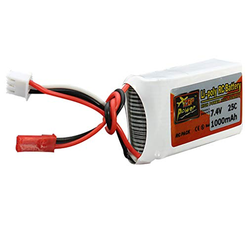 jiumoji ZOP Power 7.4V 1000mAh 25C 2S Rechargeable Battery JST Plug Compatible with RC Drone FPV Quadcopter