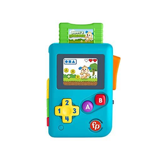 Fisher-Price Videoconsola retro de aprendizaje de Ríe y Aprende, juguete con sonidos, regalo para bebés +6 meses, Mattel HBC82