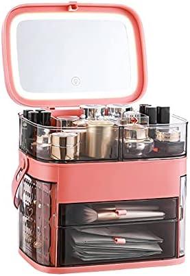 1003 LED Mirror Time sale Cosmetic Storage Desktop Ranking TOP7 Dust-Proof Skin Car Box