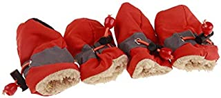 Baiepen Antiskid Puppy Shoes Soft-Soled Pet Dog Shoes Waterproof Small Dog Prewalkers Soft Pet Products Supplies Pet Paw C...