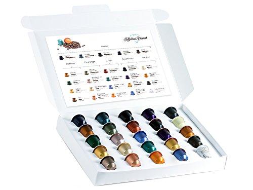 Nespresso Kapseln Probierpaket - Alle 25 Sorten zum Testen in Geschenkbox (25 Nespresso Kapseln)
