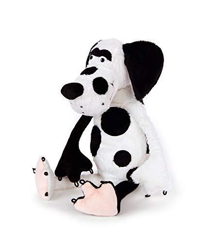 Sigikid, Hund - Dotty Dot, Beaststown, Kuscheltier für Erwachsene und Kinder, weiß/schwarz ,39180