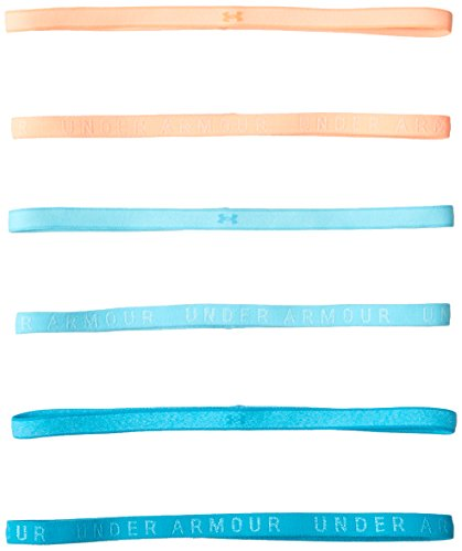 Under Armour Women's Heathered Mini Headbands 6-Pack, Venetian Blue (448)/Venetian Blue, One Size Fits All