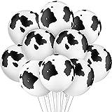 20 Piezas Globos de Látex de Vaca en Blanco y Negro Prop Globos de Vaca con Estampado Divertido para Fiesta de Tema de Animal Suministros de Fiesta Cumpleaños de Niños, 12 Pulgadas