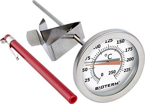 Fleischthermometer 250°C - Edelstahl Küchenthermometer | Thermometer | Raucher-Thermometer | Edelstahl Thermometer