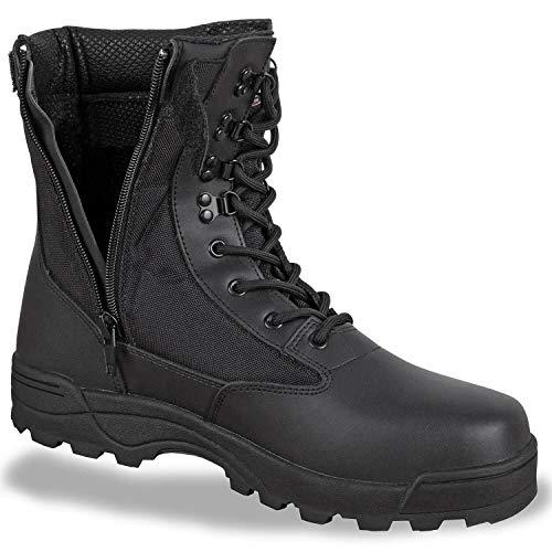 BW-ONLINE-SHOP SWAT Boots Zipper schwarz - 45