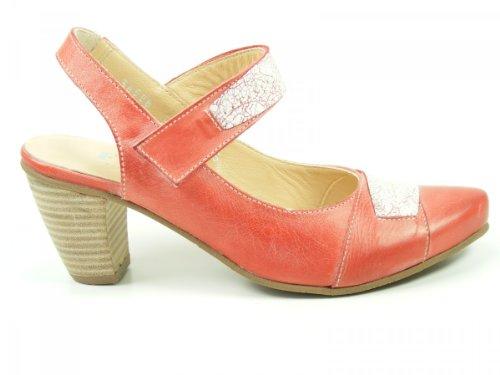 Fidji Schuhe Damen Sling Pumps Sandalen L434, Größe:40 EU, Farbe:Rot