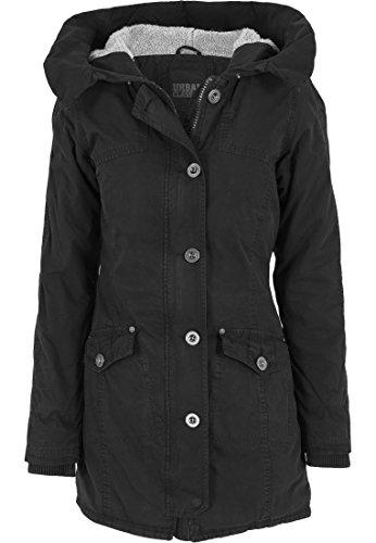 Urban Classics TB1088 Damen Jacke Jacke Garment Washed Long Parka schwarz (Schwarz) X-Large