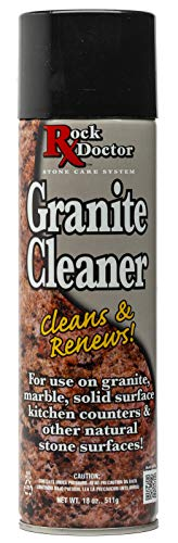 Rock Doctor Granite Cleaner –Cleans & Renews Surfaces –(18 oz) Surface Cleaner Spray, Granite, Marble, Quartz Countertop Cleaner, Cleaning Spray for Vanity, Table Top, Kitchen Counters, Stone Surfaces