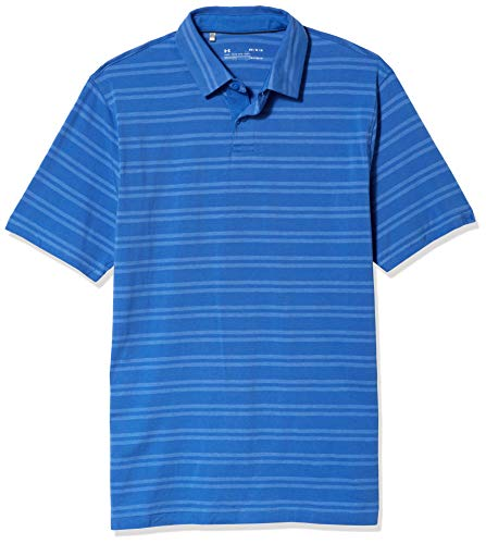 Under Armour CC Scramble Stripe Camisa Polo, Hombre, zul, MD