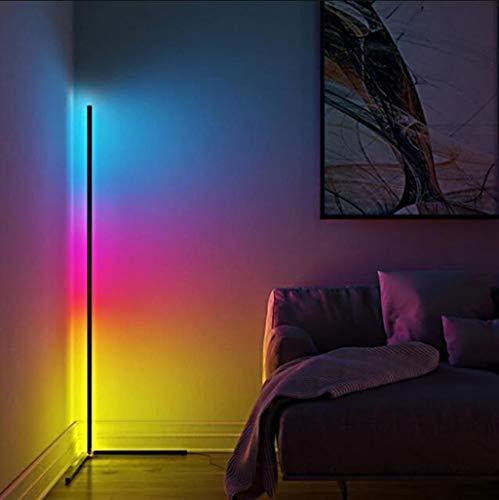JXXU Stehleuchte Eck-Stehlampe mit RGB-Farbwechsel Helligkeit und Farbtemperatur, Fernbedienung Modern for Wohnzimmer, Schlafzimmer, Spielzimmer