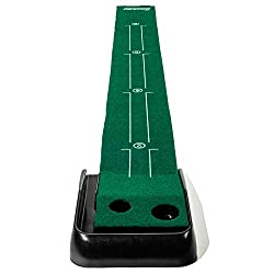 PORTABLE & COMPACT: Practice golf anywhere. At your home, office, backyard, or when you're on the go AUTHENTIC STYLE TURF: The Franklin training mat gives you a realistic playing experience to ensure your putts can be translated on the course GRAVITY...
