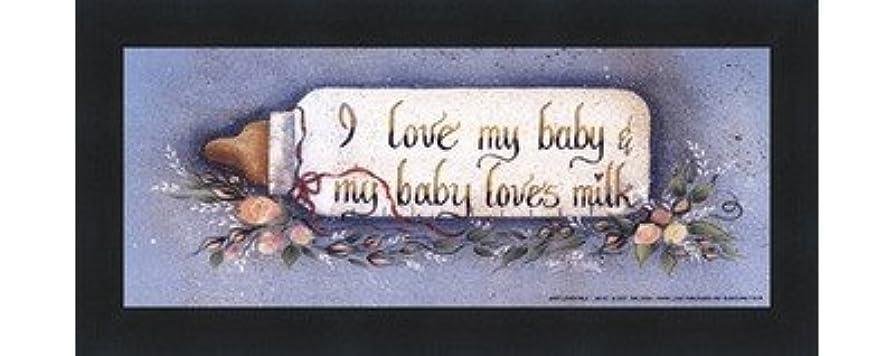 コンテストジョブ安西Baby Loves Milk by Gail Eads?–?10?x 4インチ?–?アートプリントポスター LE_613883-F101-10x4