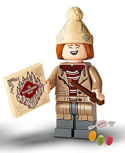 Serie 2 Lego® 71028 Harry Potter™ Minifiguren Figur 11 George Weasley zusätzlich 1 x Sticker-und-co Fruchtmix Bonbon