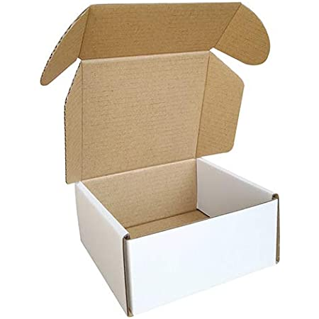 Small Cardboard Shipping Box Mailers 6 x 6 x 1.6 Inch Corrugated Packaging Storage Boxes 30 Pack
