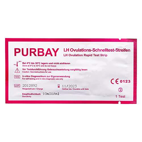 Purbay 20 x Ovulationstest Streifen 10 miu/ml LH Schnelltest