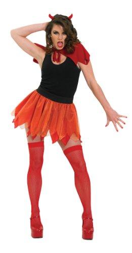 Disfraz de diablesa para mujer, diablo con falda, Talla única (Rubie