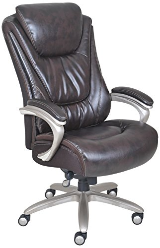 Serta Big and Tall Smart Layers Premium Ultra Foam Harmony Executive Office Chair, Brown