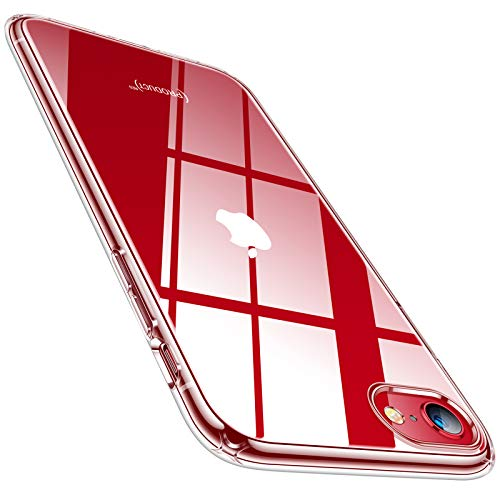 TORRAS für iPhone SE 2020 Hülle/iPhone 8 Hülle/iPhone 7 Hülle (Vergilbungsfrei, Dünn) Durchsichtig Handyhülle iPhone SE 2020 Hülle Silikon Transparent Schutzhülle iPhone SE 2020/8/7, Crystal Clear