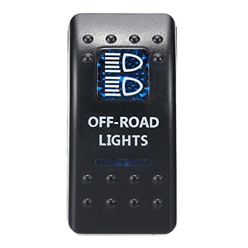 1 unids 12V 24V Barco de Coche Caravan Rocker interruptores Impermeable Rocker Switch Dual Blue L & Edlight Bar 4x4 Repuestos automáticos de Repuesto (Color : Red)