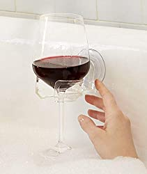 bathtub caddy wine glass holder
