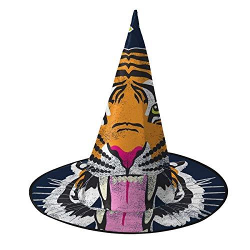NUJIFGYTCRD EL Tigre Trikot Hexenhut Halloween Unisex Kostüm für Urlaub Halloween Weihnachten Karneval Party