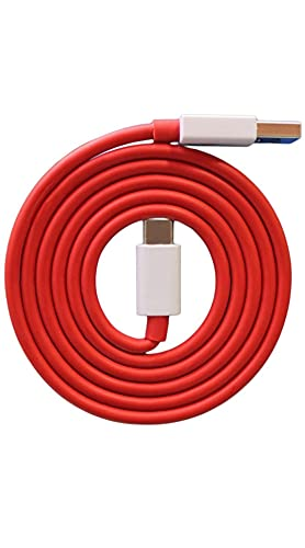 One Plus USB Type-C to USB-A 2.0 Cable (1.5 Meters) - red for One Plus Devices or All Types Device