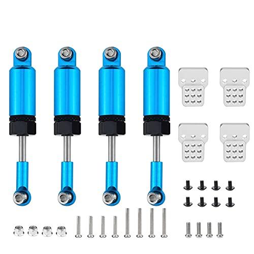 YZSM Juego de Piezas de actualización Amortiguadores para Coche RC 1/16 camión para WPL C14 C24 ( Color : Azul )