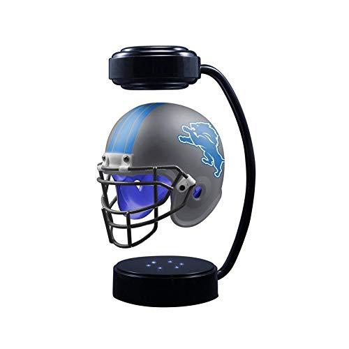 POI Schwebehelme Sammlung Sammlung Oobal-Helm mit elektromagnetischer Ständer und -Lampe, Rugby-Sport Fußball-Team-Fans,C