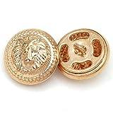 5 piezas mezcla botón redondo de metal botón dorado para ropa botones decorativos retro prendas de vestir accesorios de costura 15/20/25 mm-f-oro rosa, 15 mm