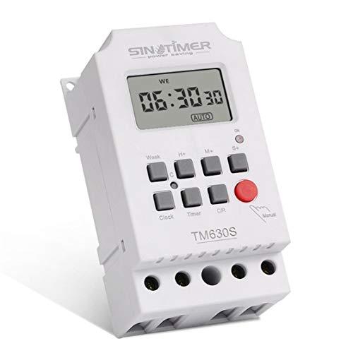 zhouweiwei TM630S-4 Interruptor Temporizador programable Digital LCD de 7 días con intervalo de 1 Segundo Salida Directa de Potencia