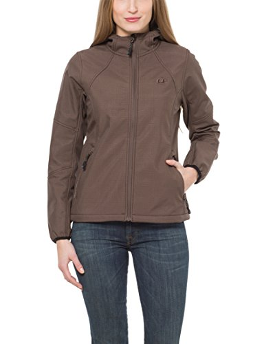 Ultrasport Damen Outdoor Softshell-jacke Estelle Softshelljacke, Braun/Melange, XL