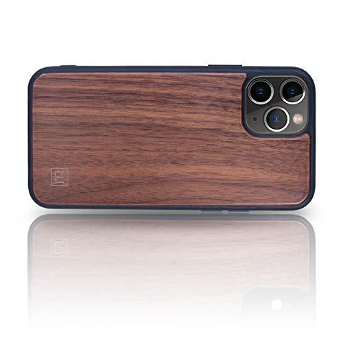 WOLA Carcasa Madera para iPhone 11 Pro Wood Funda Case de Madera Nogal