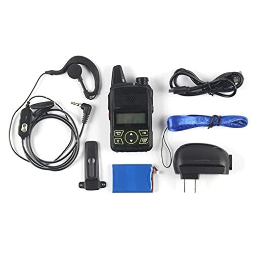 VEILTRON Li-Ion Battery Mini Walkie Talkie Voice Prompt Portable Radio Transmitter with Earpieces