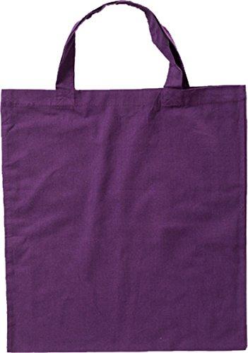 Nashville print factory Baumwollbeutel auch mit Druck   Logo   Werbung   Tragetasche Tasche Beutel Stoffbeutel Baumwolltasche (Lange Henkel - 50 Beutel, Violet - unbedruckt)