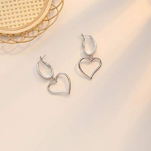 Lege Mode Vrouwen Oorbellen Meisjes Elegante Gouden Geometrische hart vorm Oorbellen Sieraden Gift
