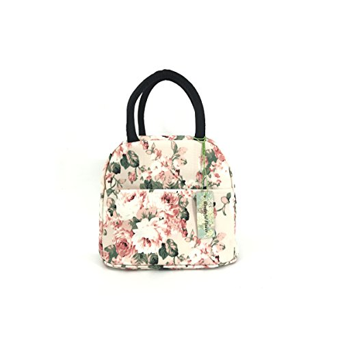 wonderful flower Insulated Lunch Box Cooler Bag lunch bag flower (19Light Pink)