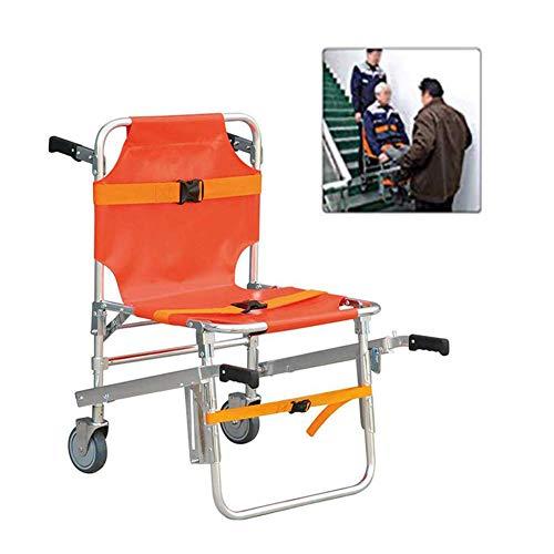 SHKY EMS-Aluminiumlegierung Treppenstuhl, Aluminiumleichtgewichtler Krankenwagen-Feuerwehrmann-Evakuierungs-medizinischer Aufzug-Treppenstuhl, mit Schnellverschlussschnallen