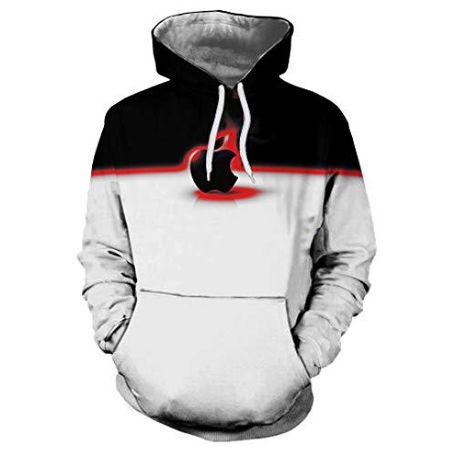 ZYSQWY Sudaderas Suéter 3D con Capucha Impresas Unisex Apple Estampado Digital suéter de los Hombres se Divierte Casual Casual Moda Juvenil Primavera y otoño Camisa