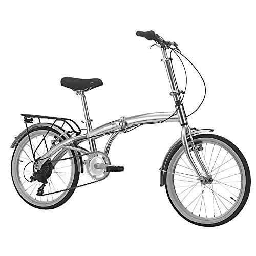 B4C 1453352 Bicicletta Pieghevole Car Bike, Aluminium, 58cm x 89cm x 31cm, Argento Lucido