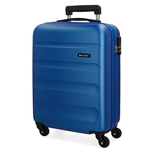 Roll Road Flex Maleta de cabina Azul 38x54x20 cms Rígida ABS Cierre...