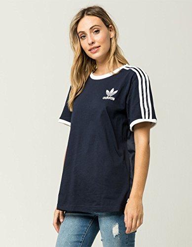 adidas Originals Women's Originals 3-Stripes Tee, Legend Ink, L