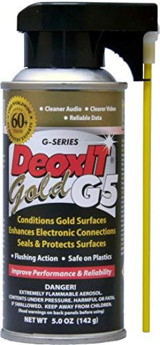 DeoxIT Gold G5S6 Spray Contact Cleaner/Enhancer/Protector for Gold Surfaces 142g Integrated Straw