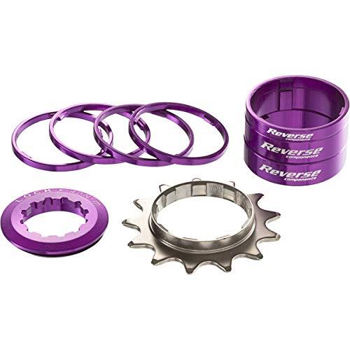 Kit Single Speed avec Pignon 13 Dents REVERSE COMPONENTS Couleur Violet