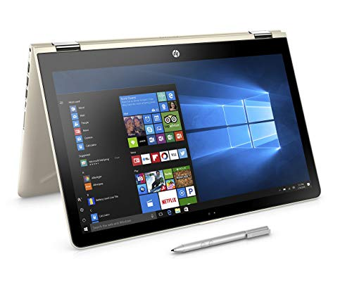 New HP Pavilion Convertible 2-in-1 15.6' HD Touchscreen High Performance Laptop PC with Stylus Pen, Intel Core i5-7200U Processor, 8GB Memory, 1TB Hard Drive, Windows 10, Silk Gold (Renewed)