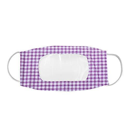 Harpily Adultos Reutilizables Pañuelos con banda Elástico para al Aire Libre Flores púrpuras transparentes hechas para sordos HQ-73B