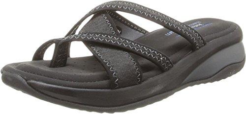 Skechers Cali Women's Promotes-Excellence Platform Sandal,Black/Charcoal,6 M US
